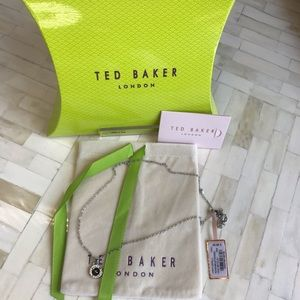 Ted Baker Tella Black & Silver Logo necklace